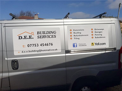 DEE Building Services Van